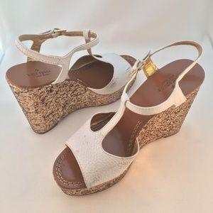 KATE SPADE Day White Wedge Sandal ~ Size 7 M